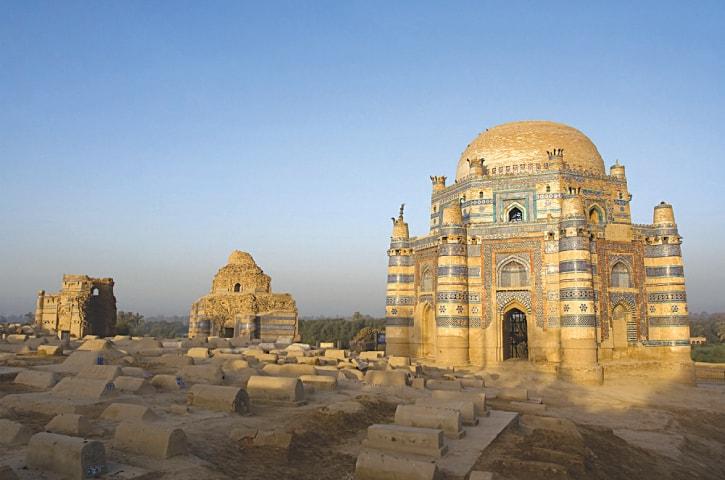 THE SHRINE of Bibi Jawindi at Uch Sharif, Punjab