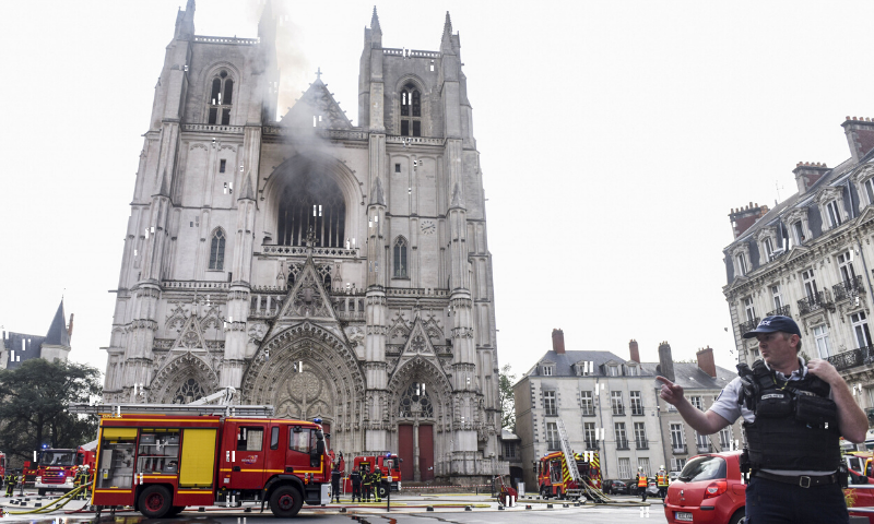 The blaze came 15 months after the devastating fire at the Notre-Dame cathedral in Paris. — AFP/File