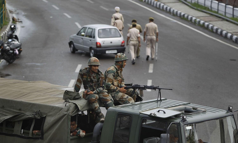بھارتی سیکیورٹی فورسز کیلئے مقبوضہ کشیر میں زمین کا حصول آسان بنادیا گیا