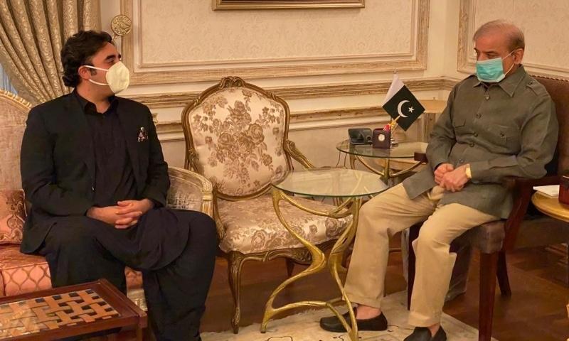 Bilawal Bhutto-Zardari and Shehbaz Sharif meet in Lahore. — Photo courtesy PML-N