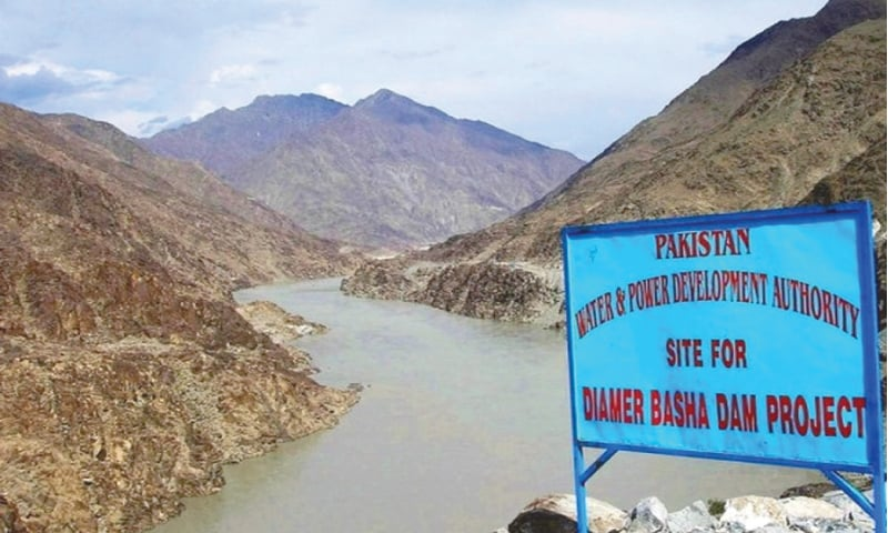 A view of Diamer-Basha dam site. Construction work on the project has started recently after delays of decades.