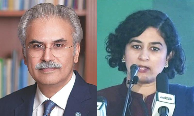 Dr Zafar Mirza and Tania Aidrus. — DawnNewsTV/File