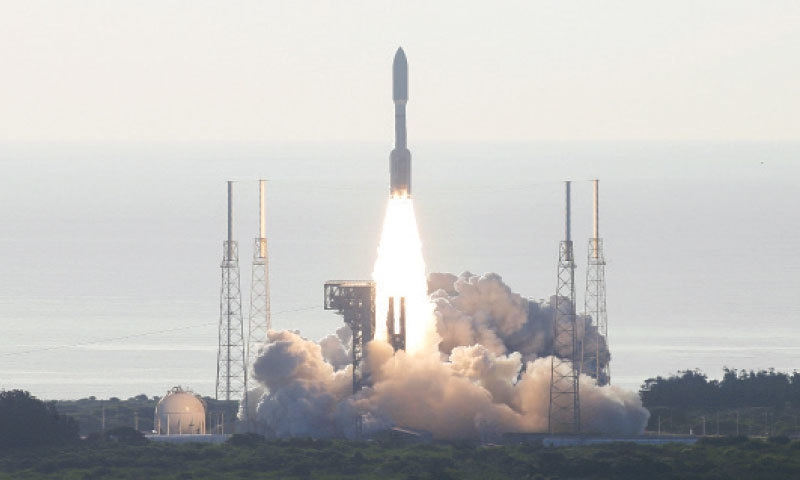 A ROCKET carrying NASA's Mars 2020 Perseverance Rover vehicle takes off from the Cape Canaveral Space Force Station in Florida on Thursday.—Reuters