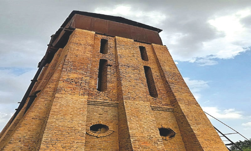 The station's Gothic-style water tank | Dil Nawaz Khan