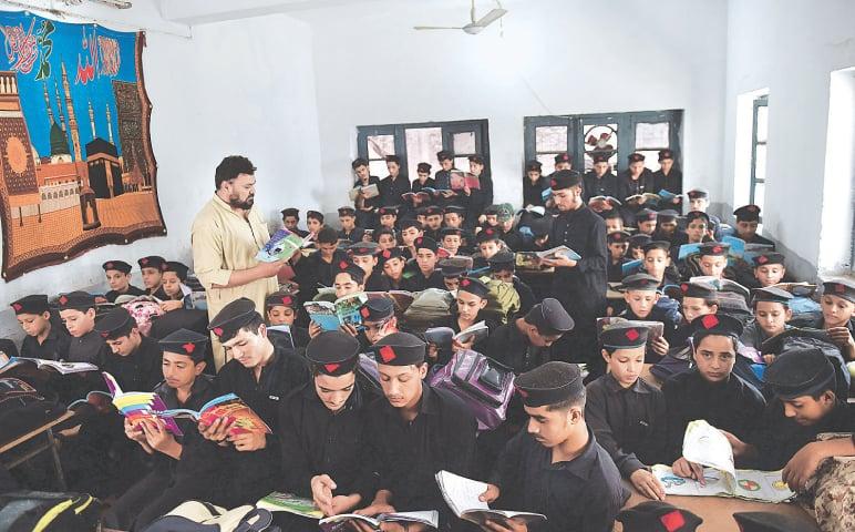 A class underway at a public school in Peshawar | Abdul Majeed Goraya /White Star