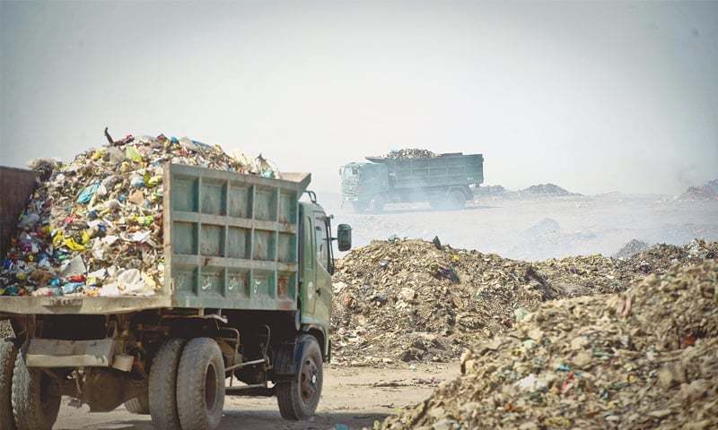 SHC bench directs SSWMB to ensure waste, offals in Karachi to be collected, disposed by evening of each day. — Dawn/File