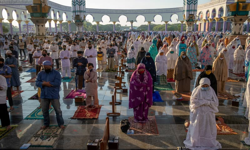 Indonesian Muslims offer Eidul Azha prayers at the Great Mosque of Central Java, during Covid-19 outbreak in Semarang, Central Java province, Indonesia on July 31, 2020. — Reuters