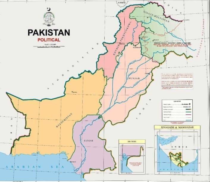 پاکستان کا نیا سیاسی نقشہ — فوٹو: پی آئی ڈی