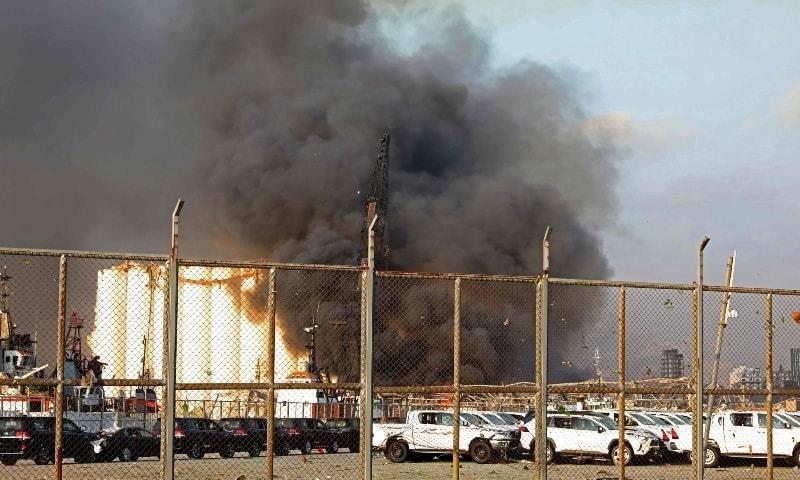 لبنان کے دارالحکومت میں زور دار دھماکا، 25 افراد ہلاک