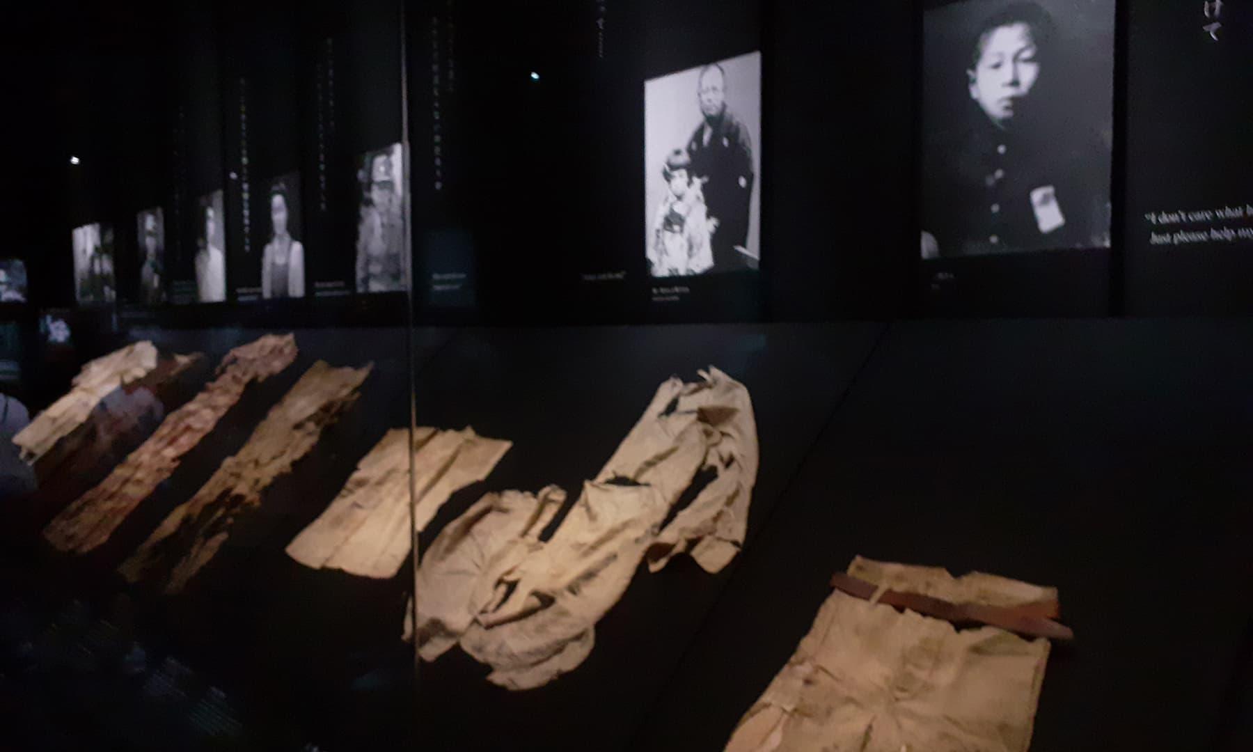 ایٹمی دھماکے کے نتیجے میں اپنی جان سے چلے جانے والے افراد کی تصاویر اور ان کی باقیات