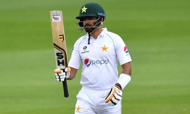پہلا ٹیسٹ: پاکستان کے دو وکٹوں پر 139 رنز، بابر کی شاندار نصف سنچری