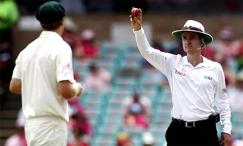 Currently, the responsibility for calling no-balls lies with the on-field umpires. — AP/File