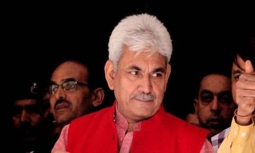 BJP leader Manoj Sinha will replace career bureaucrat G.C. Murmu (not pictured). — Photo courtesy Press Trust India via India TV