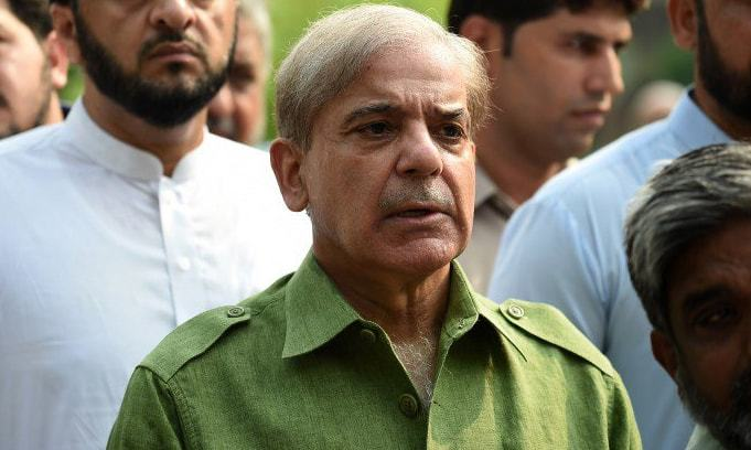 "Leader of the Opposition in the National Assembly Shehbaz Sharif said that the PTI government's policy on Kashmir lacked ""direction and substance"". — AFP/File"
