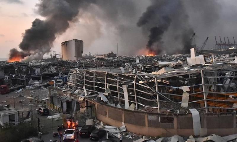 بیروت میں ہونے والے دھماکوں میں زیادہ جانی نقصان ہوا — فوٹو:اے ایف پی