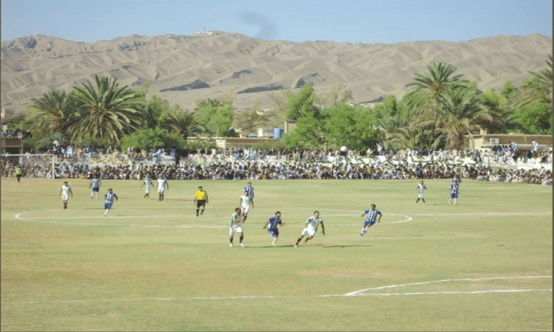Large crowds during a PPL match in Nushki | Photo courtesy: PFF