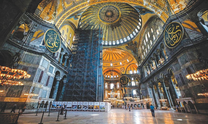 The Byzantine-era Hagia Sophia is one of Istanbul's main tourist attractions   AP
