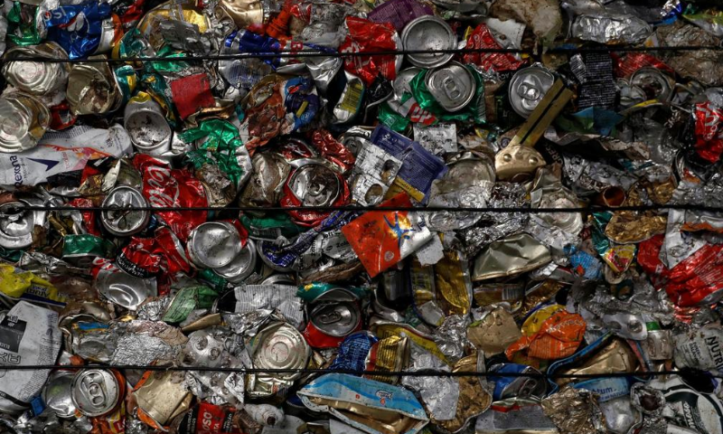Separate cans are seen at Amarsul plant in Seixal, Portugal on July 7. — Reuters/File