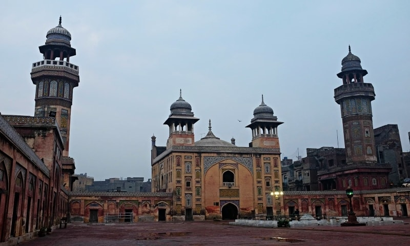 According to Saba Qamar, a nikkah scene was shot inside Lahore's Wazir Khan mosque. — Farooq Soomro/File