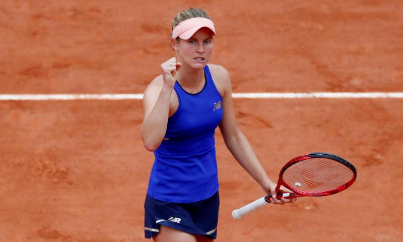 """""""I think it was my best match of the week,"""" the 23-year-old Ferro said after landing the second title of her career with a dominant display. — Reuters"""