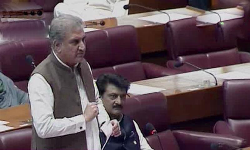 Invites opposition for talks; protesting JUI-F members sit in speaker's gallery. — DawnNewsTV/File
