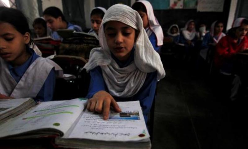 """Resolution urges govt to """"encourage Pakistan's minority community by including minority heroes"""" in the curriculum. — Reuters/File"""