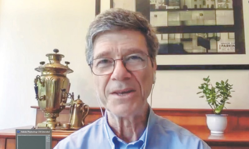 Dr Jeffrey D. Sachs speaks during the online event on Tuesday.—White Star