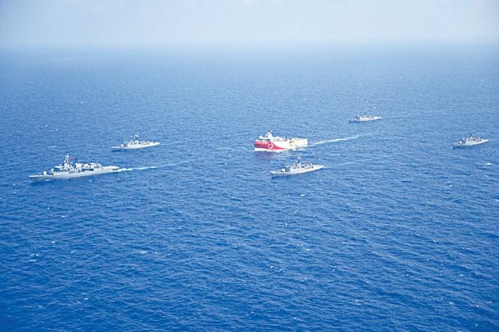 Turkey, Greece in Mediterranean standoff; Athens seeks EU meeting