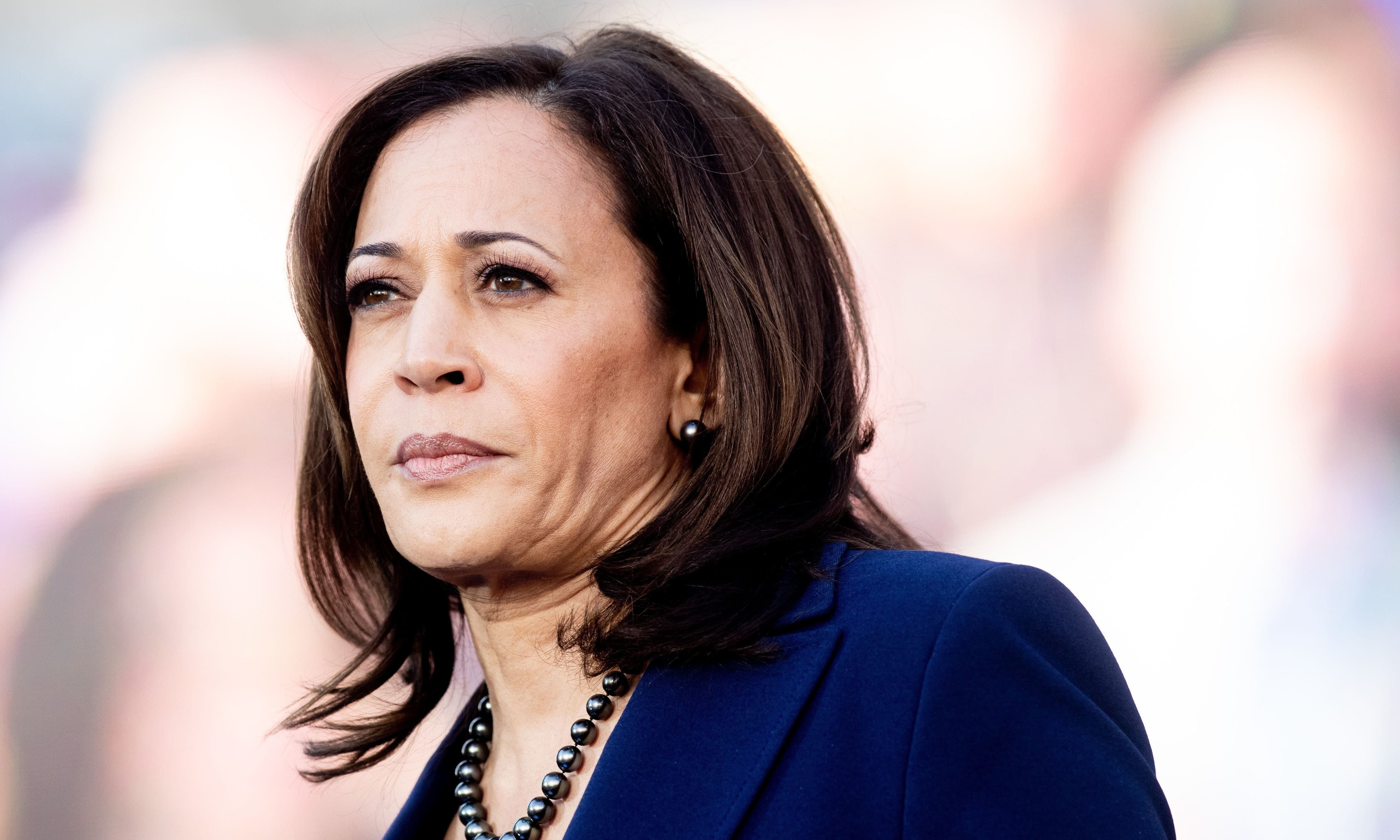 California Senator Kamala Harris looks on during a rally launching her presidential campaign on January 27, 2019 in Oakland, California. — AFP/File