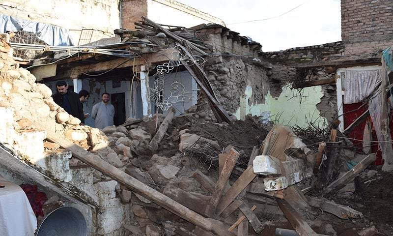 The quake struck at a depth of 40km with its epicentre located 68km northwest of Khuzdar. — AP/File