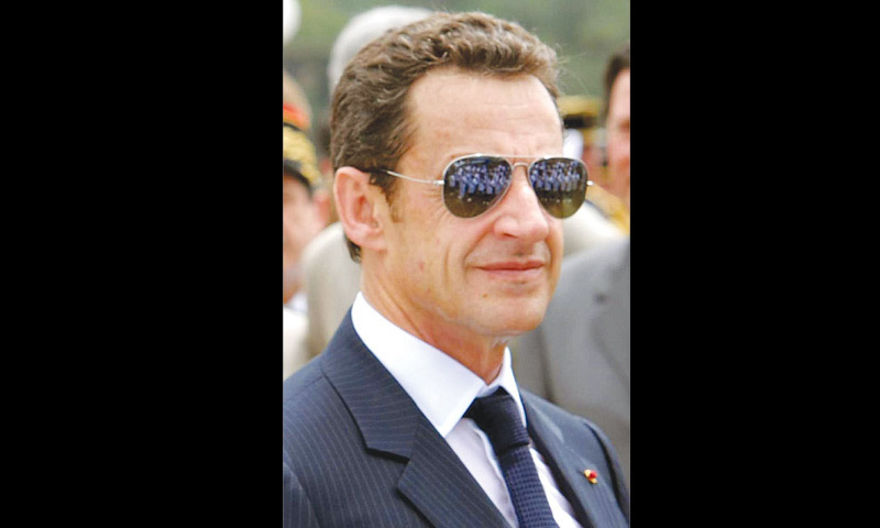 Former French president Nicolas Sarkozy is far ahead of a bevy of novels for the beach by some of the country's leading authors. — Dawn/Files