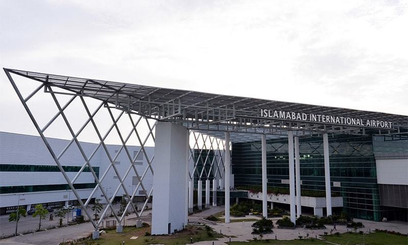 As the panels of the Islamabad International Airport collapsed, the airport management closed the area and cordoned it off. — AFP/File