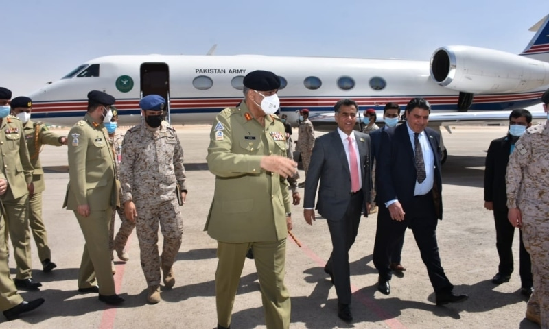 Army chief General Qamar Javed Bajwa arrives in Saudi Arabia on Monday. — Photo courtesy Arab news Pakistan