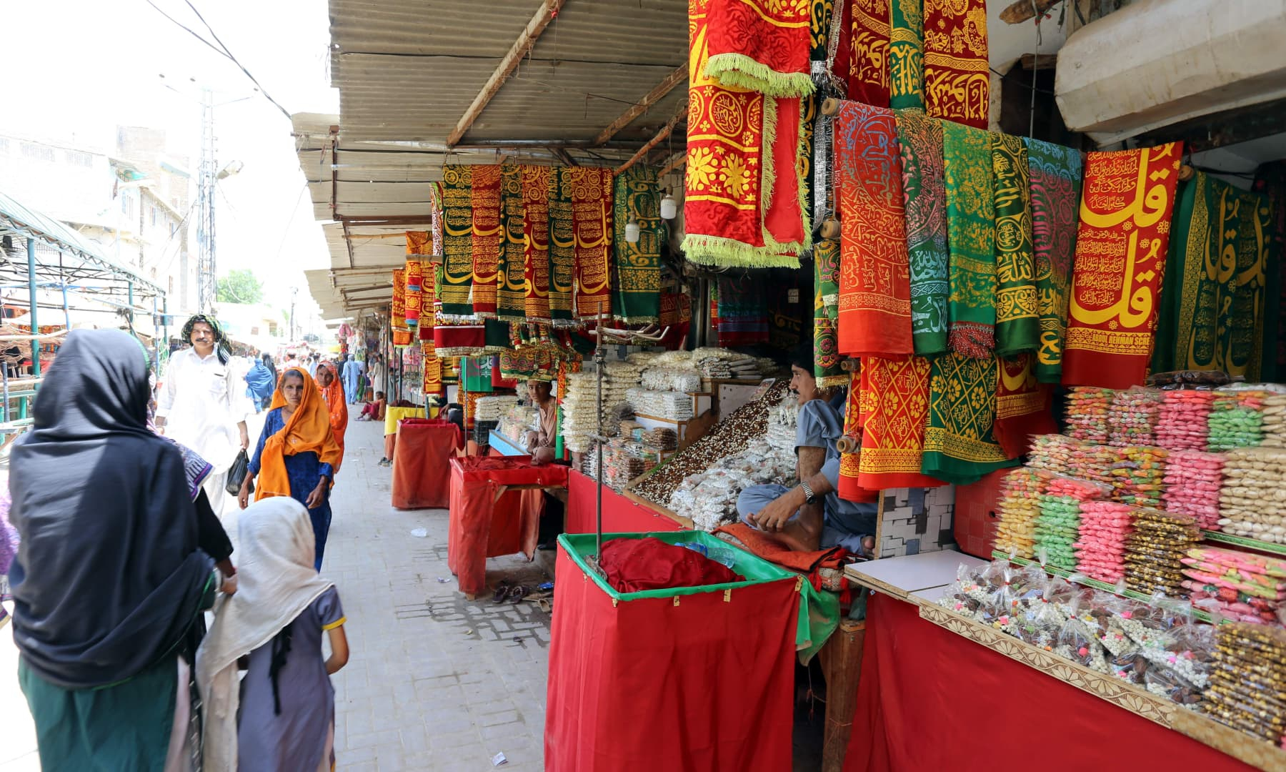 Businesses around Qalandar's shrine reopened after the lockdown was eased on August 10.