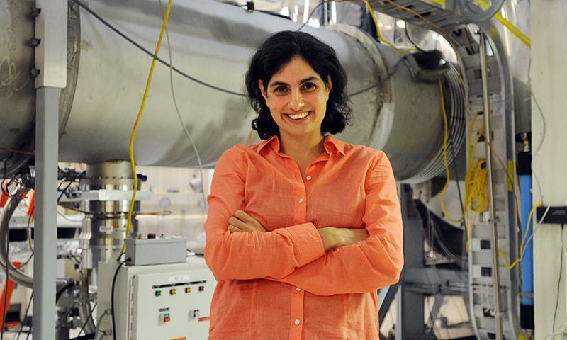 MIT Quantum Astrophysicist Nergis Mavalvala in an MIT lab. — Photo courtesy 2010 MacArthur Foundation