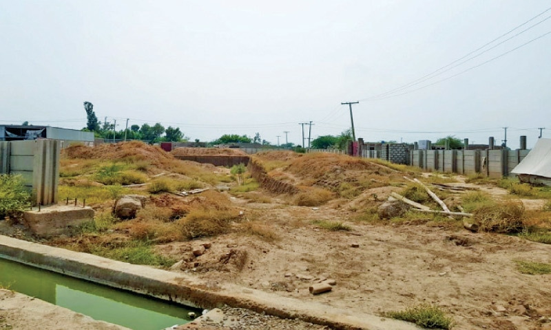 A view of the plots at the industrial estate. — Dawn