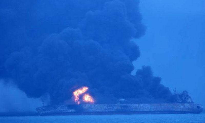 چین: تیل اور مال بردار بحری جہازوں میں تصادم، 14 افراد لاپتا