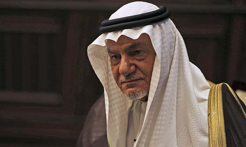 """""""Any Arab state that is considering following the UAE should demand in return a price, and it should be an expensive price,"""" Saudi Prince Turki Al-Faisal  wrote in the Saudi newspaper Asharq Al-Awsat. — AP/File"""