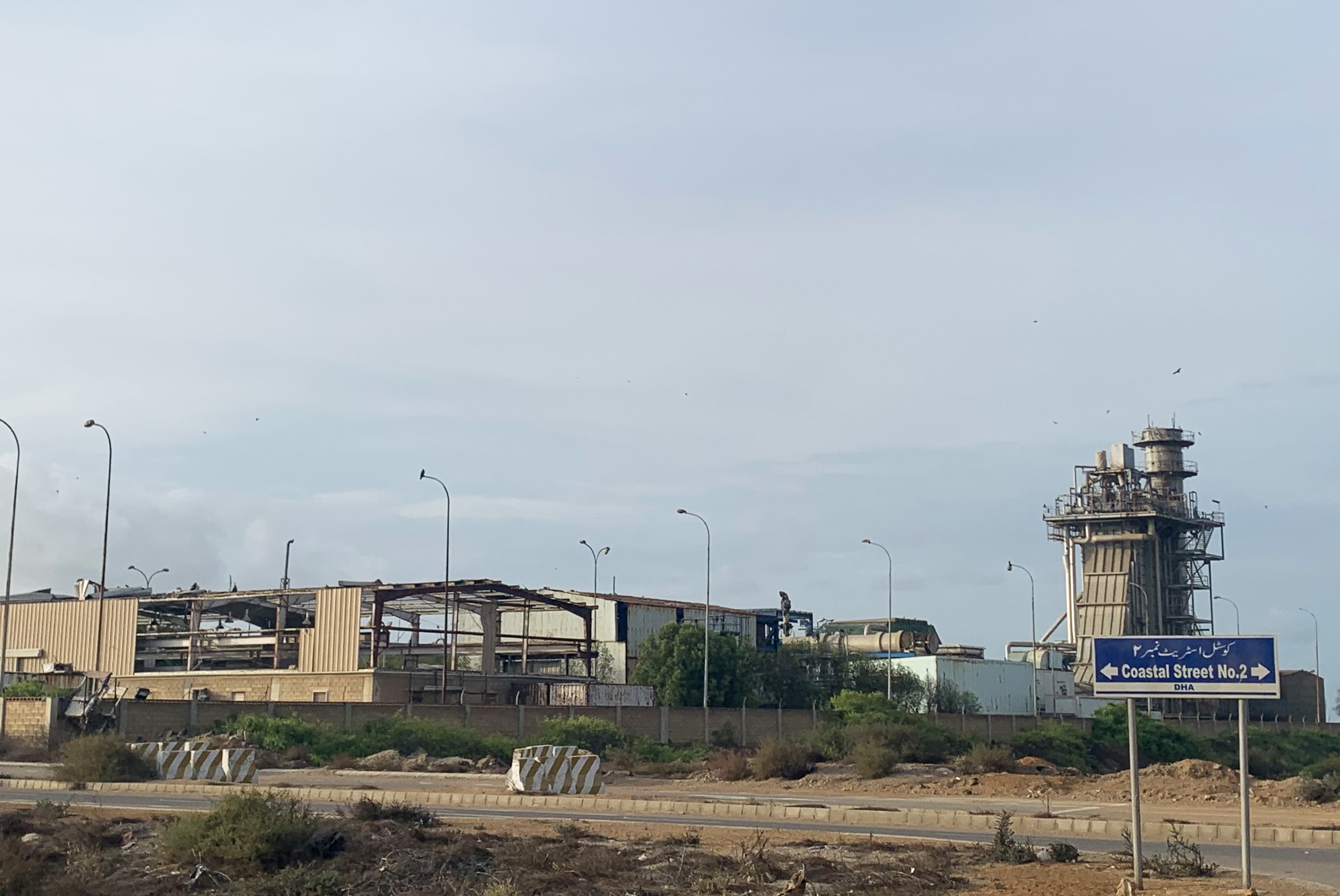 DHA Cogen Desalination Plant, located in DHA Phase VIII, from street view | Marvi Mazhar