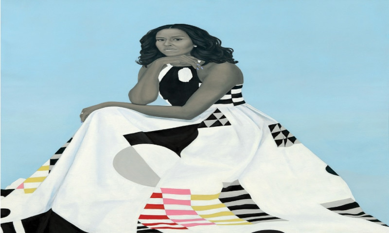 Portrait Of First Lady Michell Obama (2017), Amy Sherald