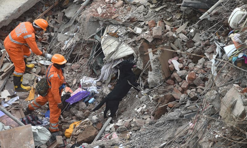 One dead, 200 feared trapped as building collapses in India
