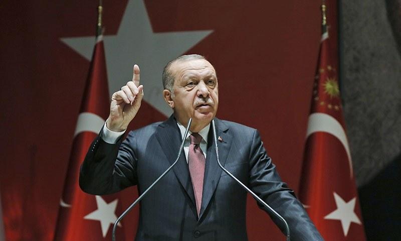 Turkey will defend its rights in East Mediterranean, Aegean, Black seas: Erdogan - World - DAWN.COM