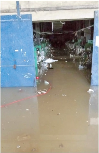 INDUSTRIALISTS from across the city said the production units were flooded with rainwater causing losses worth billions of rupees. — Dawn