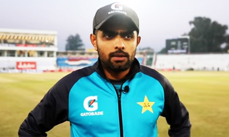 """I am not under any sort of pressure just because of being considered [by experts] as the main source of run-getter for Pakistan. I will stick to my own game plan to give my maximum for the team,"" Babar said. — DawnNewsTV/File"