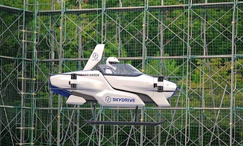 جاپانی کمپنی کا پرواز کرنے والی کار کے کامیاب تجربے کا دعویٰ