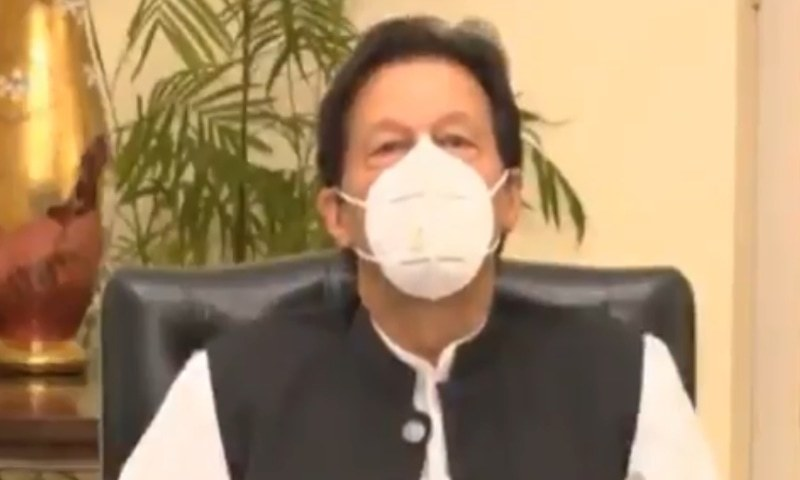 """""""The federal government is cognisant of the sufferings of the people of Karachi due to civic issues and will play its role in mitigating them,"""" the prime minister was quoted as saying. — Screengrab"""