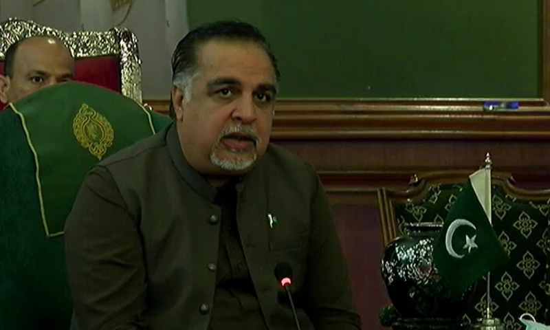 Governor Ismail said there was a consensus among all stakeholders that the administrator should be an apolitical person having repute, honesty and integrity. — DawnNewsTV