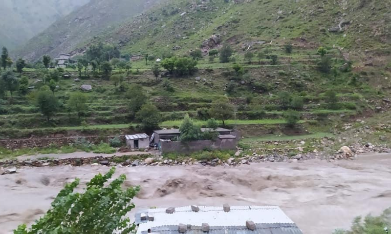 Flooding in Shangla.