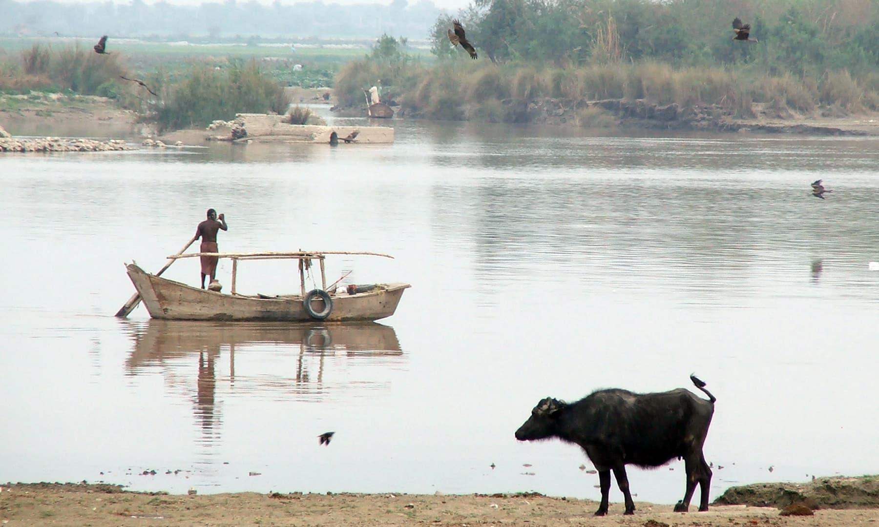 لینس ڈاؤن برج سے دریائے سندھ کا منظر