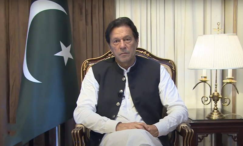 """Yes, we want OIC to play a bigger role [in the Kashmir issue]. But let me make it clear: Saudi Arabia will always be a friend of Pakistan,"" said PM Imran. —  Al Jazeera screengrab"